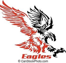 águia, soaring