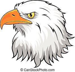 águila, cabeza, mascota