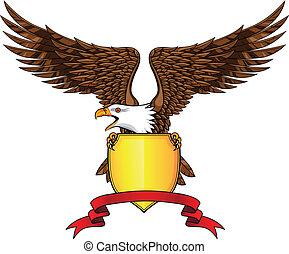 águila, con el protector