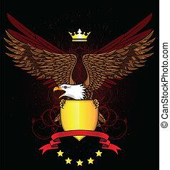 águila, con el protector, y, emblema