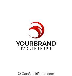 águila, concepto, vector, diseño, plantilla, logotipo