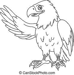 águila, contorneado