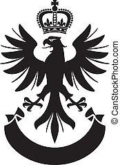 águila, diseño, brazos, chamarra