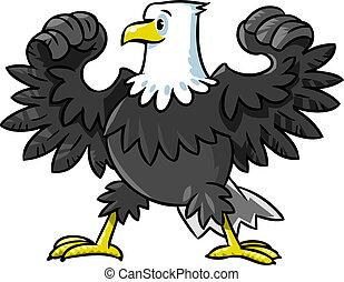 águila, fuerte