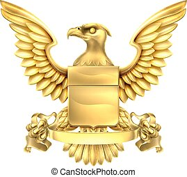 águila, heráldica, brazos, chamarra