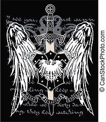 águila, heráldico, medieval