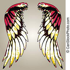águila, imaginación, ala, ilustración retrato