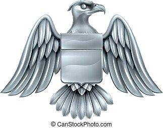 águila, imperial, chamarra, protector, brazos