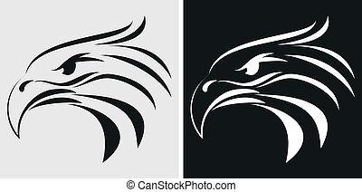 águila, mascota, o, símbolo