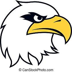 águila, negrita, plantilla