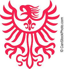águila, símbolo, diseño
