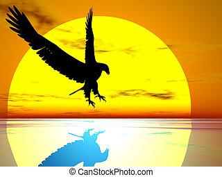 águila, sol