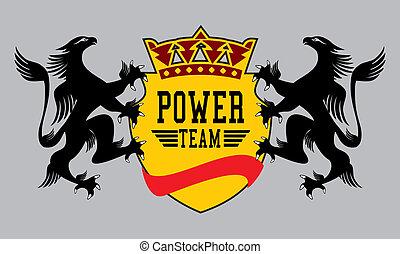 águila, vector, arte, potencia, equipo