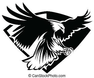 águila, vuelo, mascota