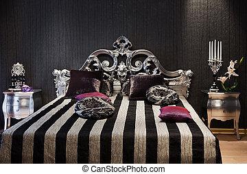 ágy, elegáns