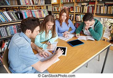 ák, škola, diář, knihovna, dílo