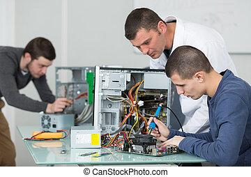 ák, pájka, počítač, sloka, učenost