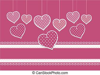 álbum de recortes, corazones, plano de fondo