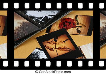 álbum foto, con, espacio de copia