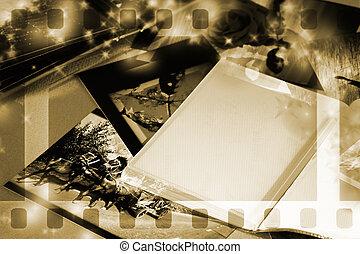 álbum, foto, espacio de copia