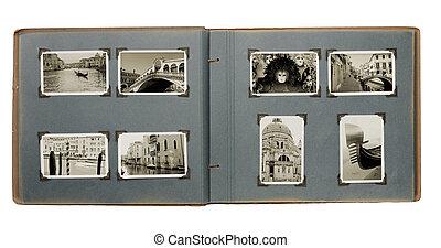 álbum, foto, venecia