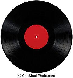 álbum, jogo, disco, isolado, longo, pretas, vinil, lp, em...