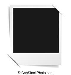 álbum, marco de la foto, polaroid