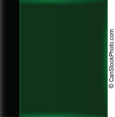álbum, verde, cubierta