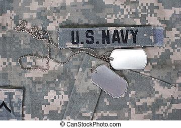 álcáz, nappal, kutya, bennünket, egyenruha, tiszta, haditengerészet