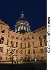 állam, atlanta, -, grúzia, kongresszus székháza...