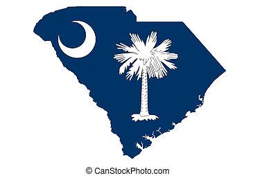 állam, közül, south carolina