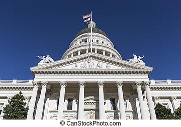 állam, kalifornia, kongresszus székháza washingtonban, építészet