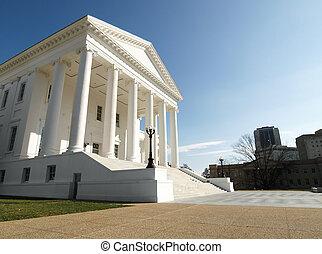 állam, statehouse, virginia capitol