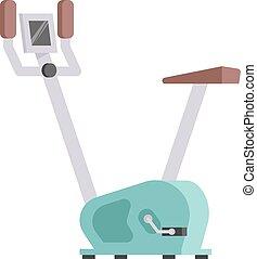 állandó, sétál bicikli, sport, tornaterem, gép, egészség, elfoglaltság, vector.