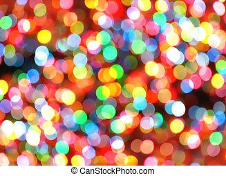 állati tüdő, fényes, színes, karácsony, háttér