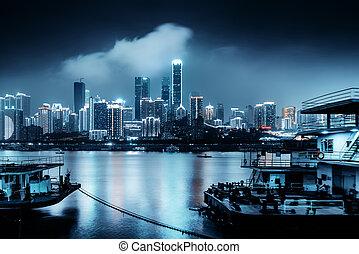 állati tüdő, kína, chongqing, város