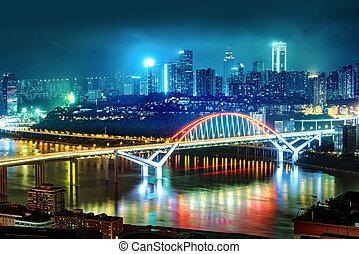 állati tüdő, kína, város, chongqing