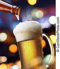 állati tüdő, sör