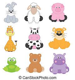 állatok, karikatúra