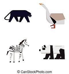állhatatos, állatok, állatkert