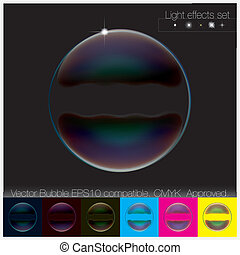 állhatatos, buborék, áttetsző, színes, szappan