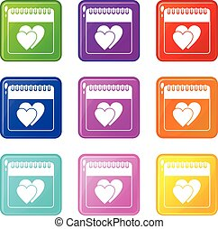 állhatatos, dátum, esküvő, 9, naptár, nap