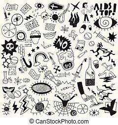 állhatatos, drogok, szórakozottan firkálgat, kéz, alapismeretek, tervezés, húzott