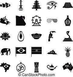 állhatatos, egyszerű, mód, arcvonás, ikonok