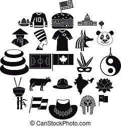 állhatatos, egyszerű, mód, emlékmű, ikonok
