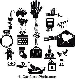állhatatos, egyszerű, mód, nagylelkűség, ikonok