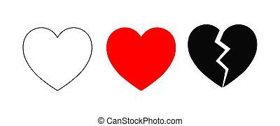 állhatatos, elszigetelt, ábra, 3, vektor, háttér, piros, fehér