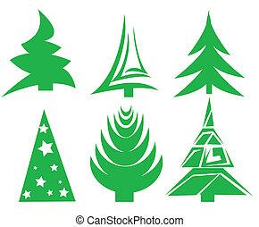 állhatatos, fa, karácsony