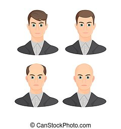 állhatatos, gazdag koncentrátum, alopecia, concept.,...