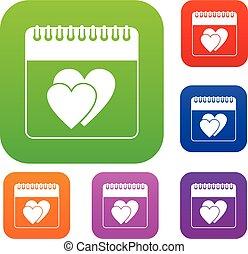 állhatatos, gyűjtés, esküvő, dátum, naptár, nap
